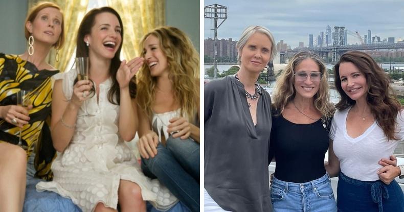 """""""Их хотын секс"""" цувралын жүжигчид болох Синтиа Никсон, Сара Жессика Паркер, Кристин Дэвис нар"""