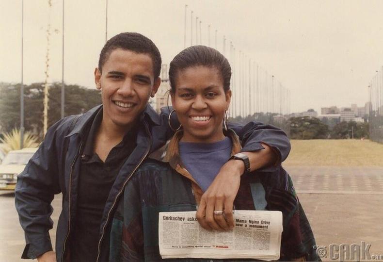 Барак, Мишель Обама хоёр...