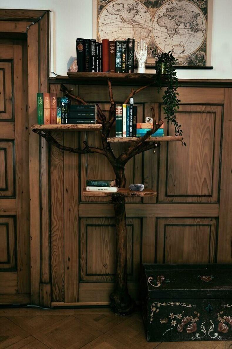 """""""Аав ээж маань намайг төрөхөд алимны мод суулгасан юм. Харамсалтай нь сар орчмын өмнө мод маань үхчихсэн. Тэгээд би модоо номын тавиур болгохоор шийдсэн"""""""