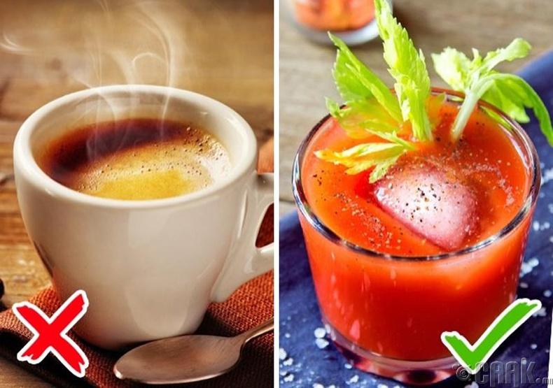 Кофе, цай уух хэрэггүй