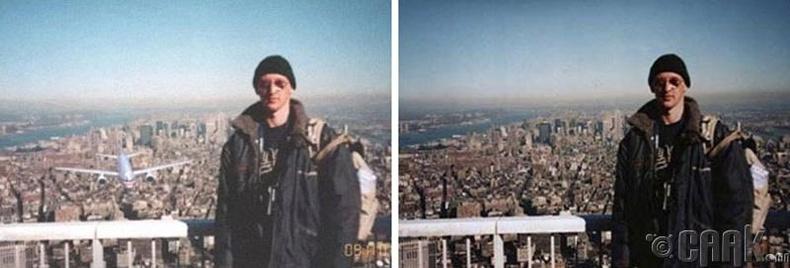 Энэ зургийг 9/11-ний халдлагаас хамаагүй өмнө авсан байна
