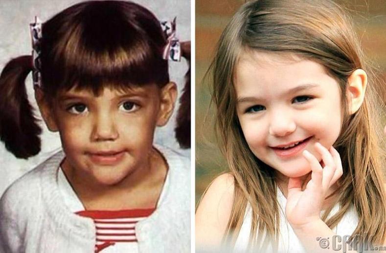 Жүжигчин Кэти Холмс (Katy Holmes) болон түүний охин Сури Круз (Suri Cruise)