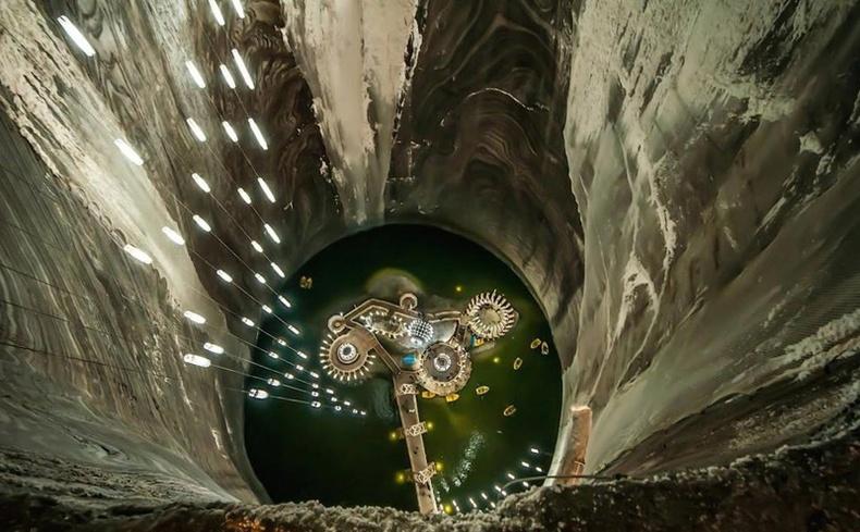 Салина Турда давсны уурхай дахь усан парк, Румын