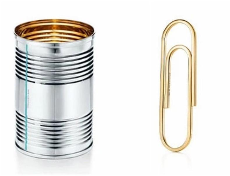 """Тансаг эдлэлийн """"Tiffany"""" брэндийн мөнгөн лааз, алтадмал цаасны хавчаар"""