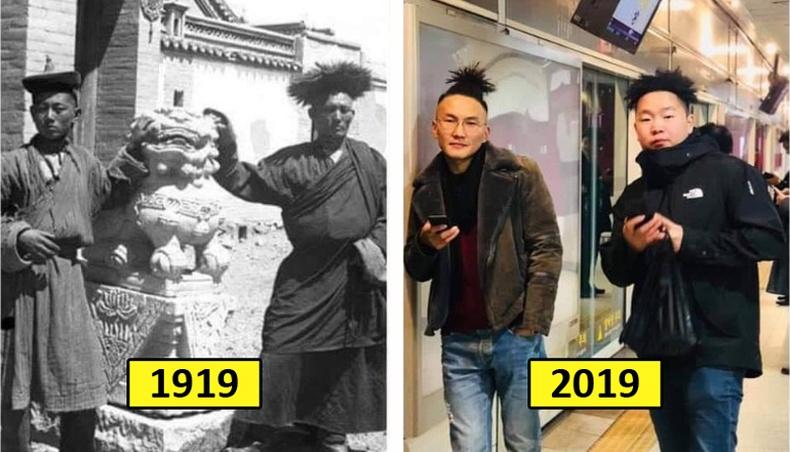 Монголчууд өмнө, дараа (22 фото)