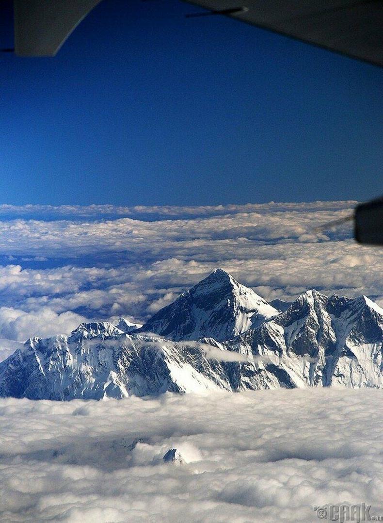 Эверестийг дээрээс нь харвал