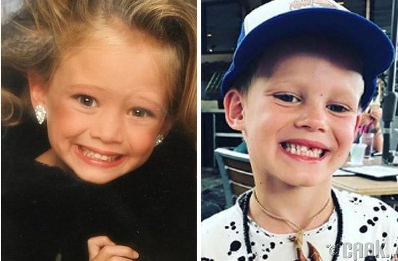 Дуучин Хиллари Дафф (Hillary Duff) болон түүний хүү Лука Комри (Luca Comrie)