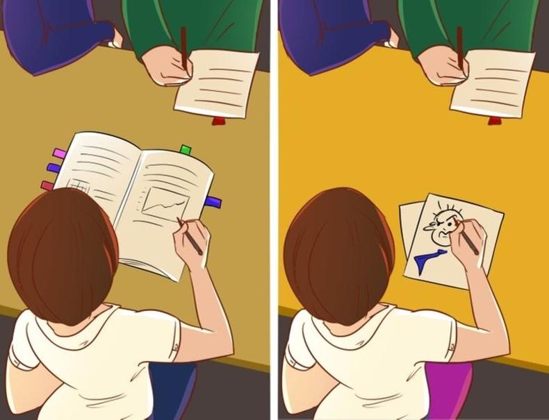 Хурлын үеэр чухал мэдээллүүдээ тэмдэглэж авдаг хүн болон зураг зурдаг хүн