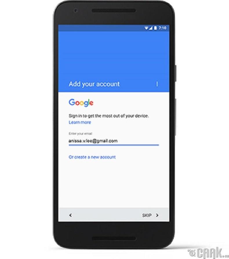 """7. Шинэ """"Android"""" ухаалаг утас руугаа өөрийн """"Google Account""""-аар нэвтэрч орсноор мэдээллүүдийг хуулж авна"""