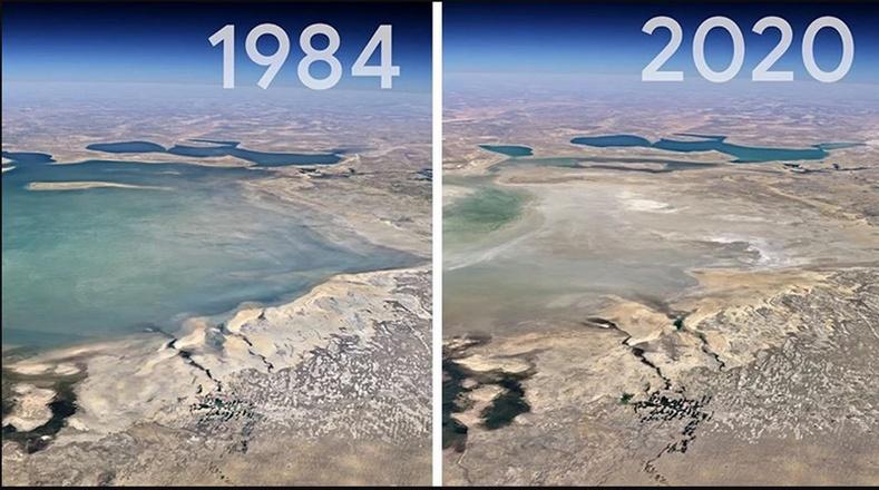 Сүүлийн 40 жилд дэлхий хэрхэн өөрчлөгдсөнийг харуулах сансраас авсан зургууд