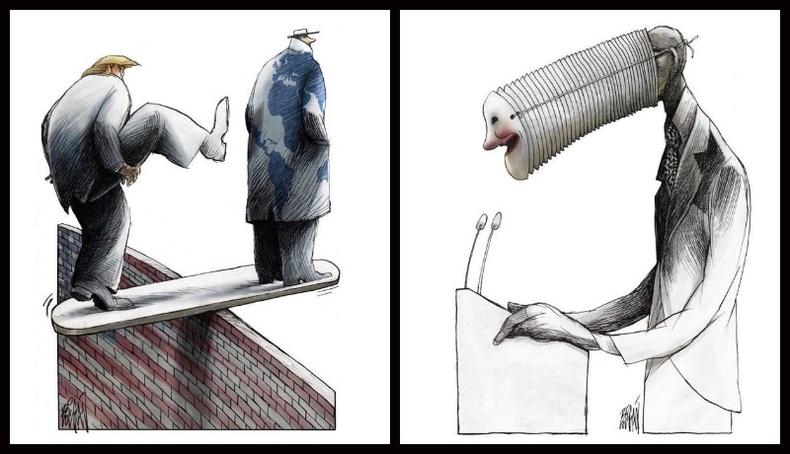Кубын зураачийн өнөөгийн нийгмийг шүүмжилсэн шог зургууд