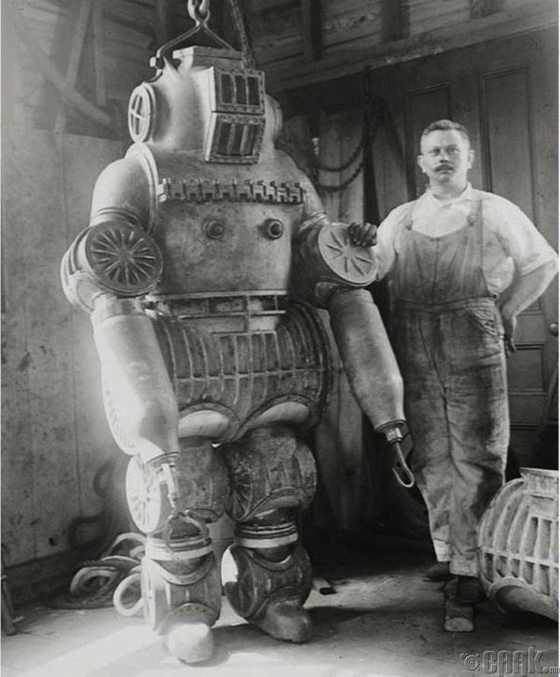 200 кг жинтэй шумбалтын хувцас, 1911 он