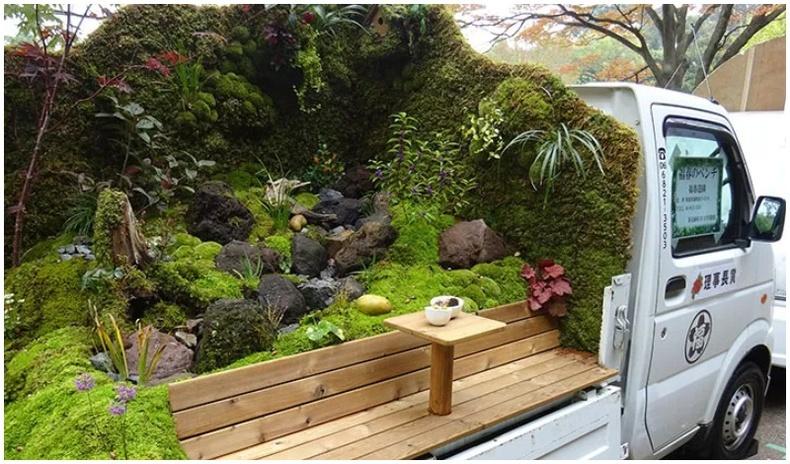 Ачааны машиныг бичил цэцэрлэг болгох Япончуудын сонирхолтой хобби