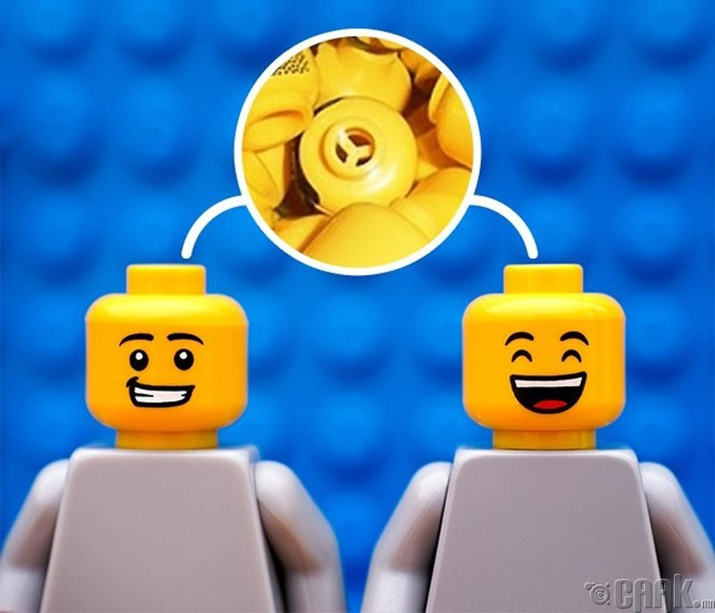 Лего тоглоомны  толгой дээрх нүхэнд ч бас учир бий