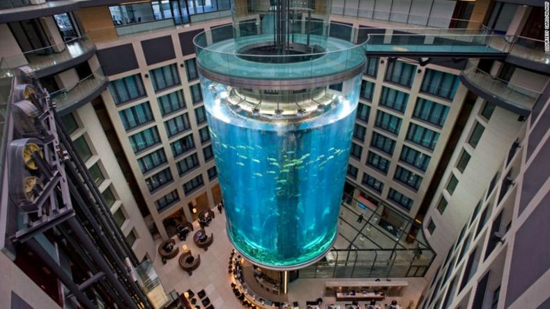 Дэлхийн хамгийн том аквариум (Берлиний Radission Blu зочид буудал)