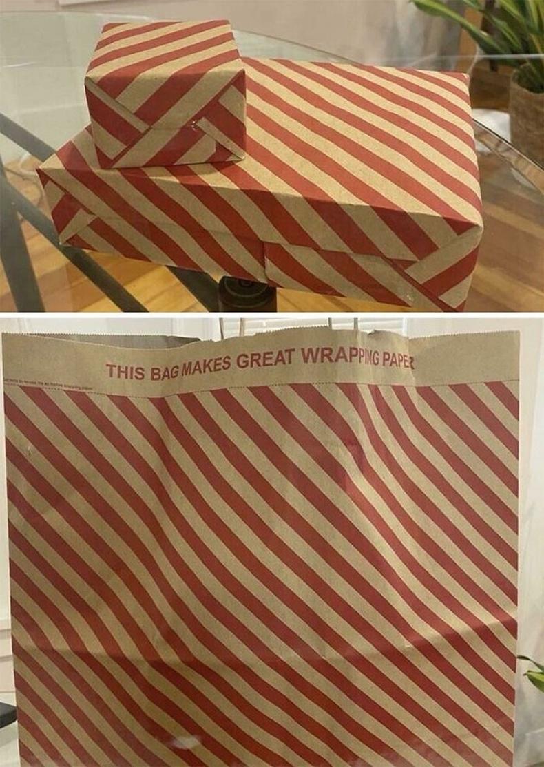 Бэлэг боох зэргээр дахин ашиглах боломжтой дэлгүүрийн цаасан уут