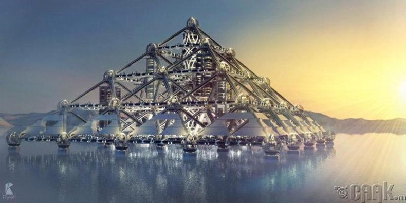 """Shimizu Mega-City"" пирамид - Токио хот, 2004 онд төлөвлөгдсөн"