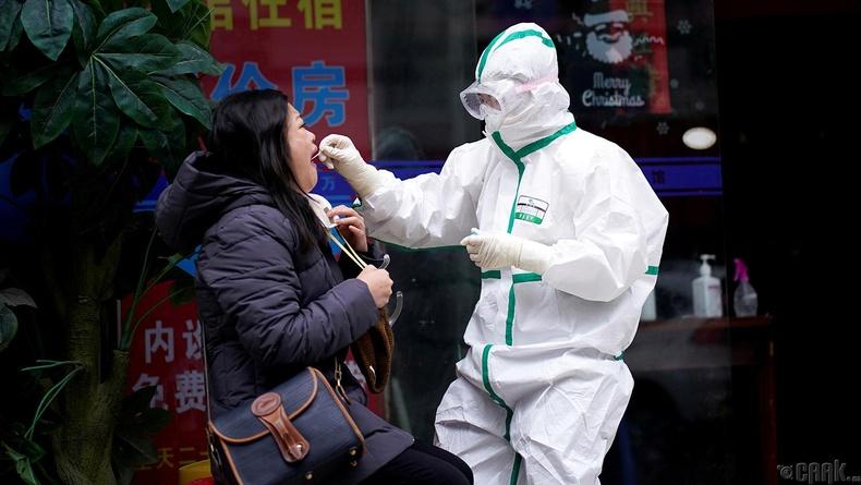 Гудамжинд коронавирусийн шинжилгээ авч буй нь, 3 сарын 29