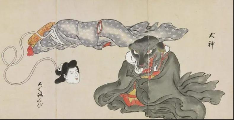 Рокурокүби ба Инугами (Rokurokubi, Inugami)