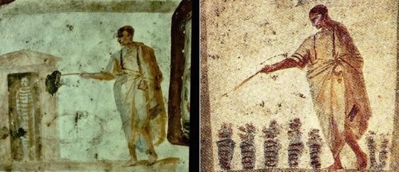 Есүсийн зарим эртний зургуудад түүнийг шидэт саваа ашиглаж байгаагаар дүрслэнхаруулдаг байжээ