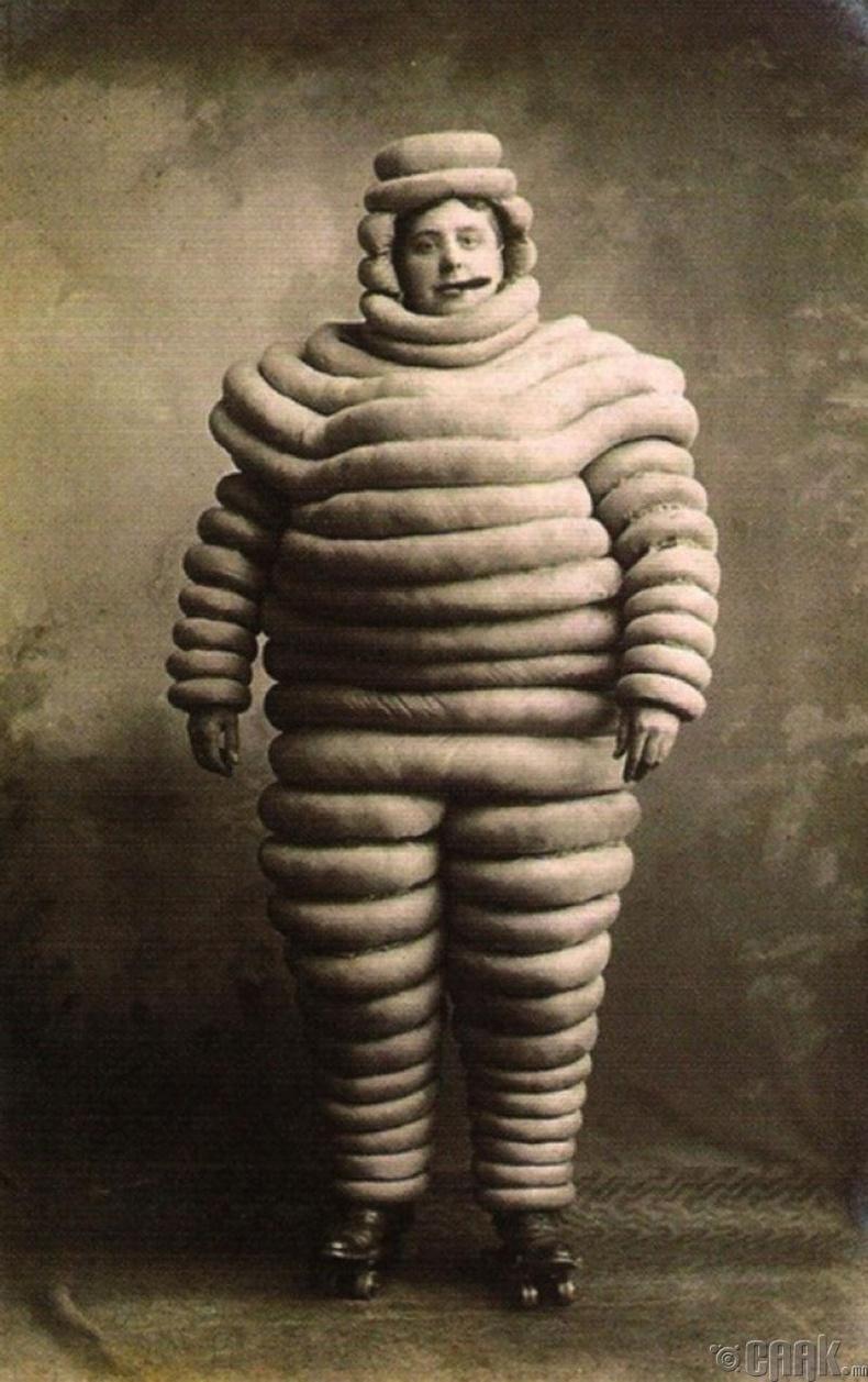 """""""Michelin"""" брэндийн нүүр царай """"Michelin man"""" - 1894 он"""