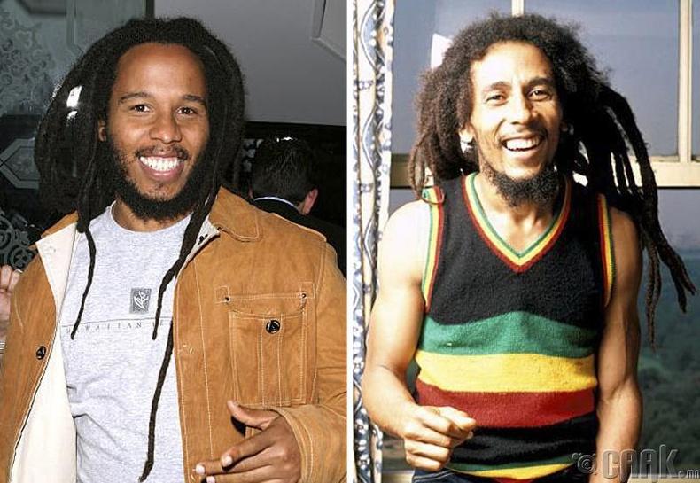 Зигги Марли (Ziggy Marley) болон дуучин Боб Марли (Bob Marley)