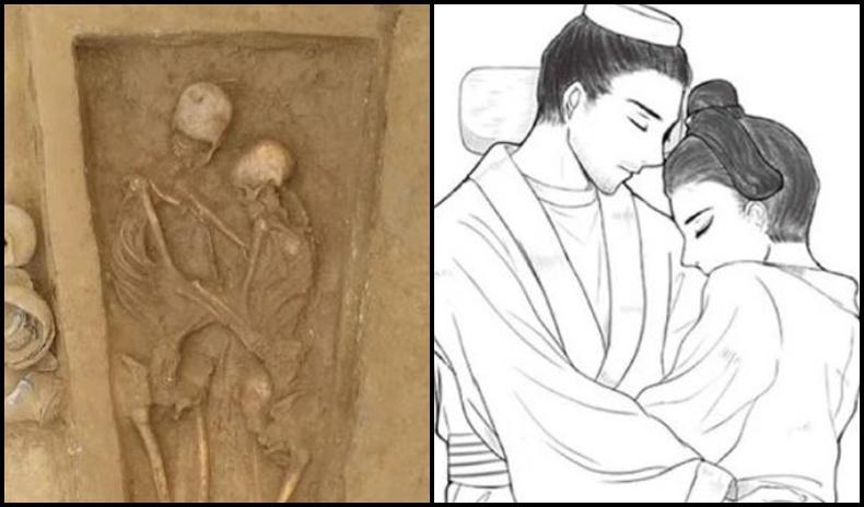 Тэврэлдэн хэвтсэн 1700 жилийн настай Сяньби хосын булш судлаачдыг гайхшруулжээ
