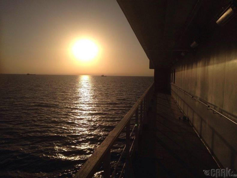Каспийн тэнгисийг гатлах