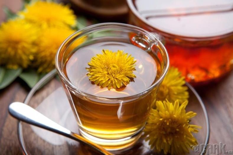 Багваахай цэцэгний болон ногоон цай