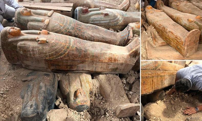 Египетээс эртний 20 гаруй модон авс олджээ