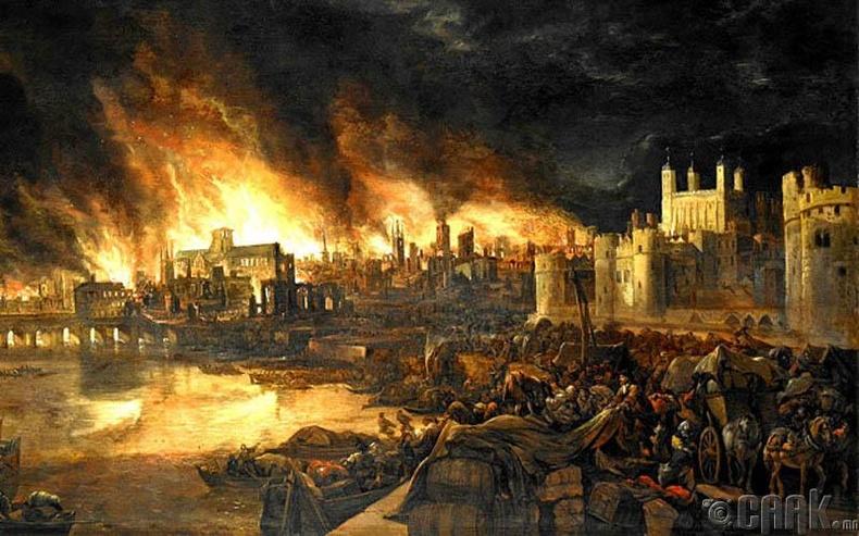 Лондонд гарсан түймрийн үеэр 13500 байшин сүйрчээ