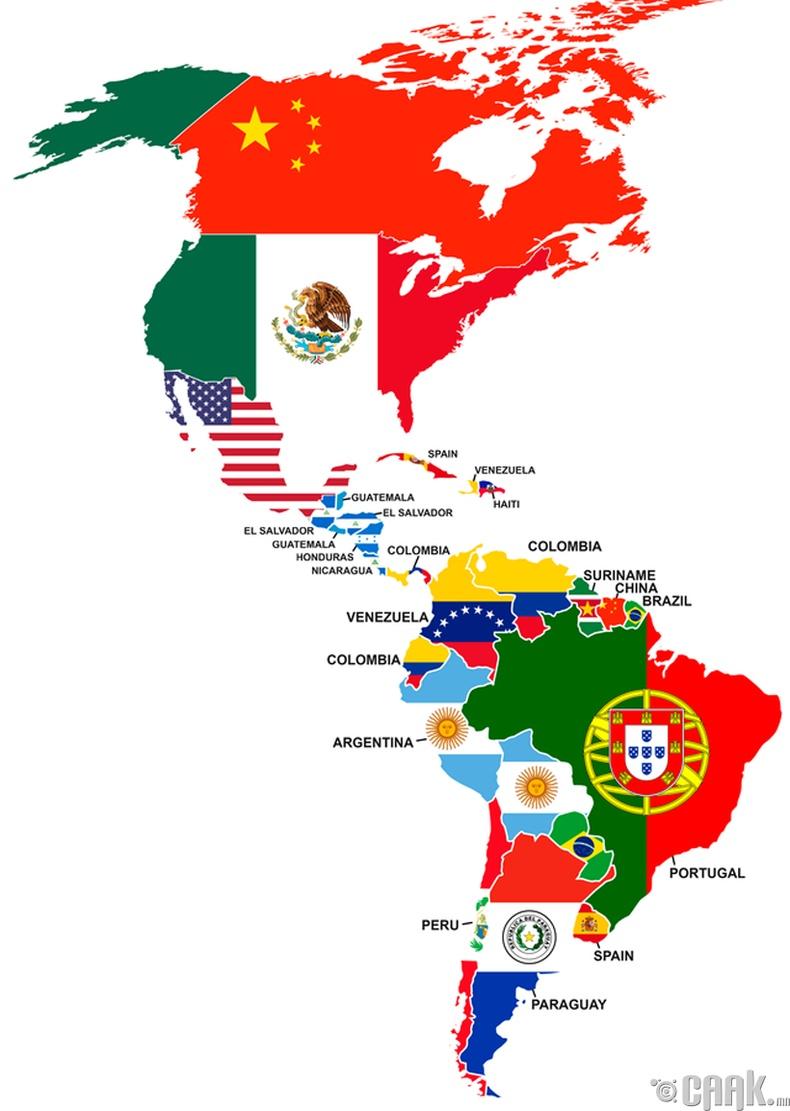 Америк тивийн улсуудад амьдардаг гадаадын иргэдийн ихэнхийг ямар үндэстнүүд бүрдүүлдэг вэ?