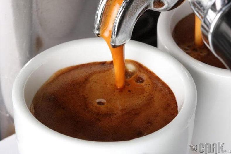 Кофе, халуун ногоог хоригло