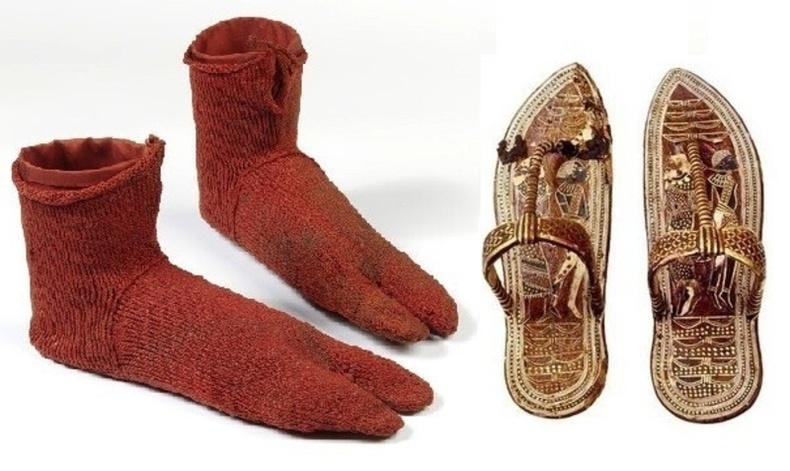 Тутанхамоны өмсдөг байсан шаахайтай оймс