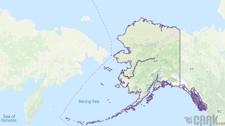 Бид бодохдоо: Аляскаас Оросын нутаг хол