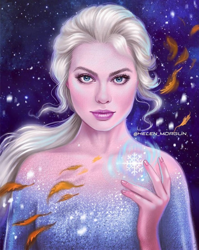 Марго Робби Эльзагийн дүрд (Frozen)