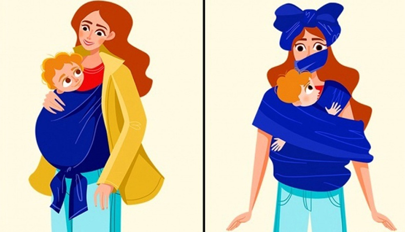 Ээжүүдийн амьдралыг харуулсан шог зургууд