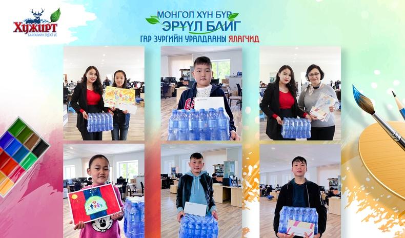 """""""Монгол хүн бүр эрүүл байг"""" сэдэвт гар зургийн уралдааны шилдгүүд шалгарлаа"""