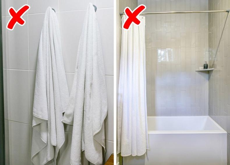 Шүршүүрт орсны дараа алчуураа өлгүүр дээр битгий өлгө. Мөн угаалгын өрөөний хөшгөө хойш нь татах хэрэггүй.