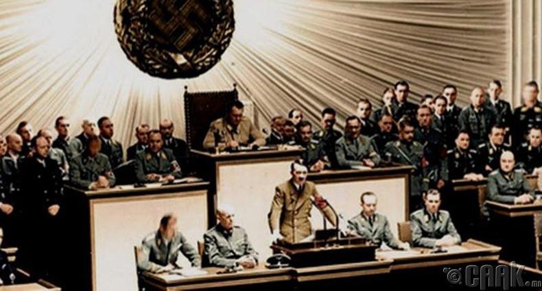 Гитлер шууд л Америкийн эсрэг дайн зарлаж байлаа