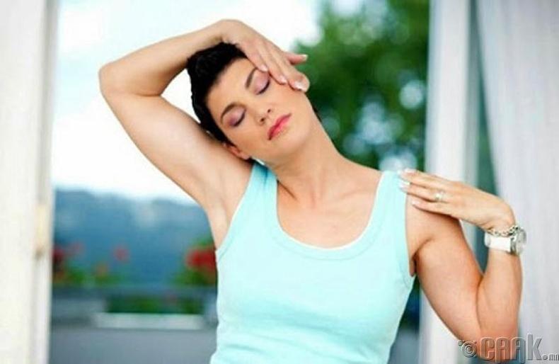 Хүзүүний суулт эмчлэх дасгал