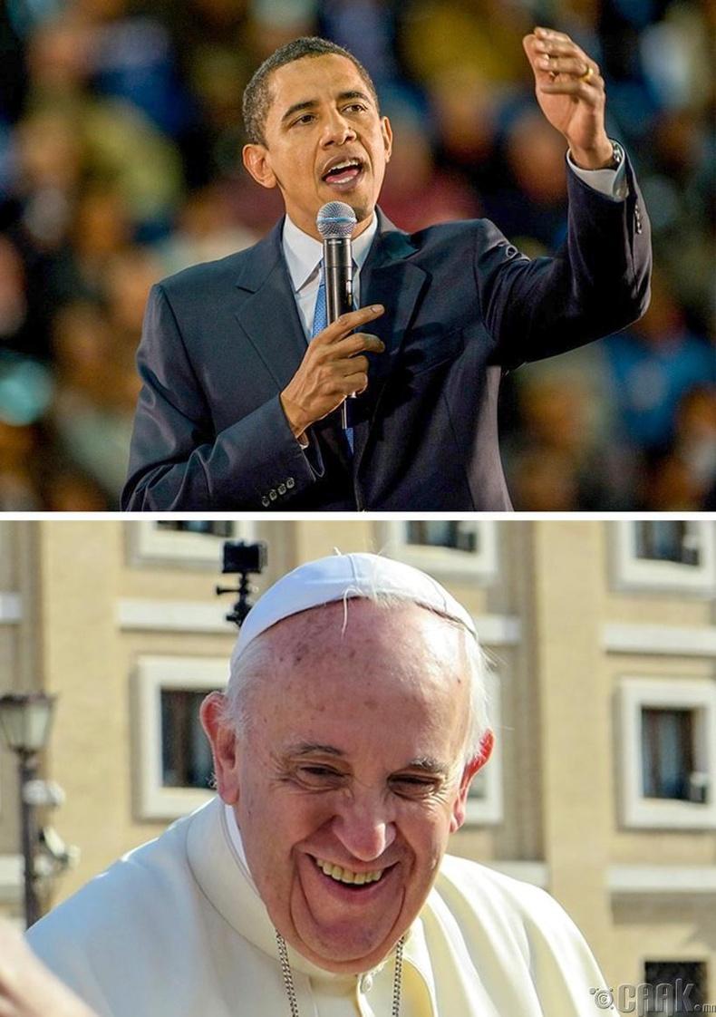 Анхны Африк гаралтай Америк ерөнхийлөгч ба Америкаас төрөн гарсан анхны Ромын пап