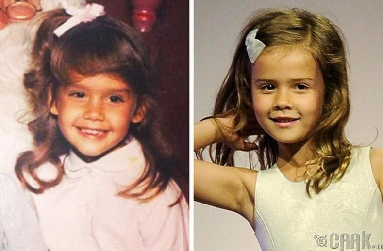 Жүжигчин Жессика Альба (Jessica Alba) болон түүний охин Онор Мари Уоррен (Honor Marie Warren)