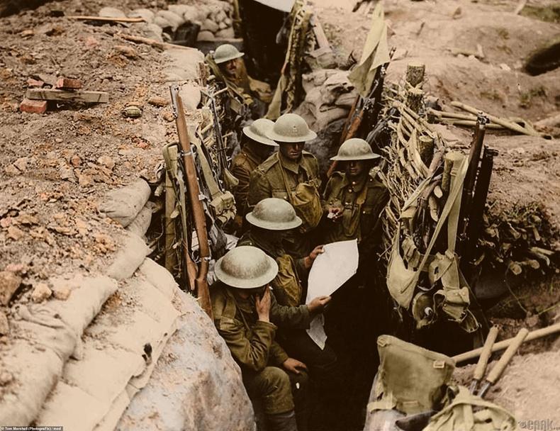 Мессинагийн тулалдааны үеэр Британийн армийн 12-р батальоны цэргүүд, 1917 оны 6-р сарын 11
