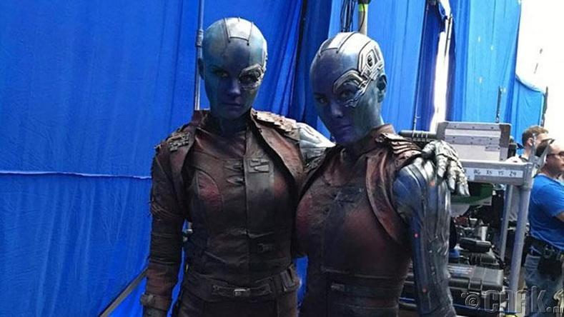 "Жүжигчин Карен Гиллан, орлон тоглогч Келли Ричардсон, ""Nebula"" кино"