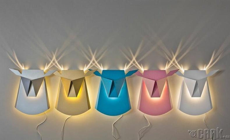 Буга хэлбэртэй өрөөний гэрэл