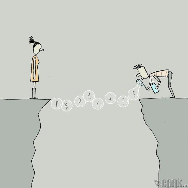 Бүх харилцаа амлалтаас эхэлдэг