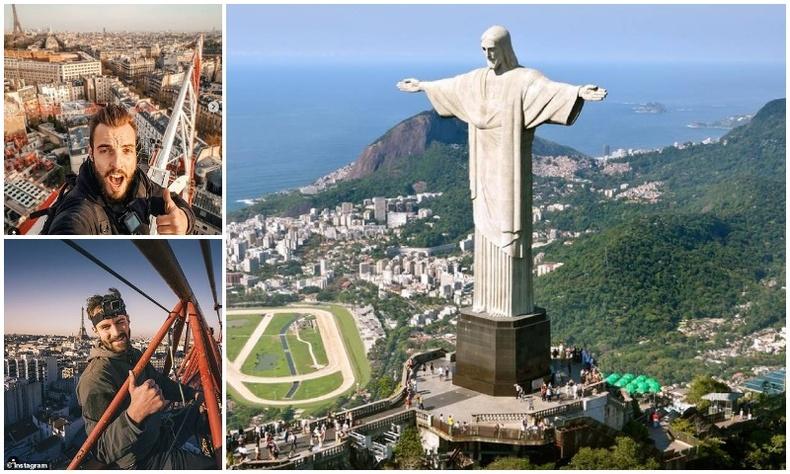 Франц жуулчид Рио де Жанейро хотын Христийн хөшөөн дээр авирч байгаад цагдаад баригджээ