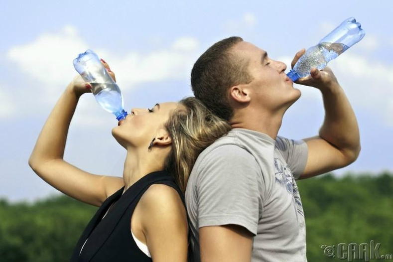 Та хангалттай ус уудаггүй