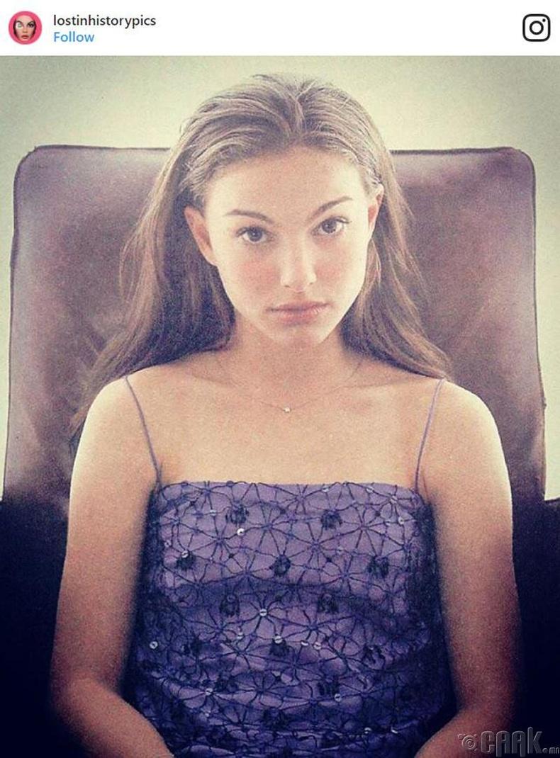 Алдарт жүжигчин Натали Портман (Natalie Portman)-ийн өсвөр насны түүхэн зураг
